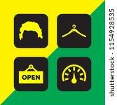 4 shop icons in vector set....   Shutterstock .eps vector #1154928535