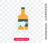 whisky vector icon isolated on... | Shutterstock .eps vector #1154929225