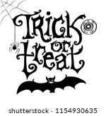 trick or treat hand drawn... | Shutterstock .eps vector #1154930635