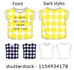 vector illustration of t shirt. ... | Shutterstock .eps vector #1154934178