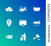 modern simple vector icon set.... | Shutterstock .eps vector #1154934292