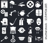 set of 25 icons such as table ...