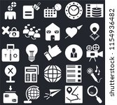 set of 25 icons such as search  ...