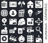 set of 25 icons such as save ...