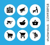 cart icon. 9 cart set with... | Shutterstock .eps vector #1154938918