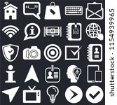 set of 25 icons such as left...