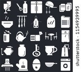 set of 25 icons such as washing ...