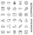 thin line vector icon set  ... | Shutterstock .eps vector #1154946238