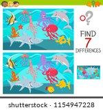 cartoon illustration of finding ... | Shutterstock .eps vector #1154947228