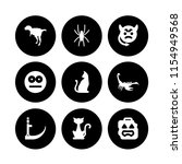 scary icon. 9 scary set with... | Shutterstock .eps vector #1154949568