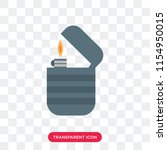 lighter vector icon isolated on ... | Shutterstock .eps vector #1154950015