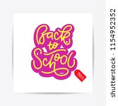 hand drawn back to school... | Shutterstock .eps vector #1154952352