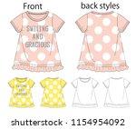 vector illustration of t shirt. ... | Shutterstock .eps vector #1154954092