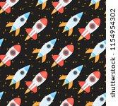 rocket space globe solar system ... | Shutterstock .eps vector #1154954302
