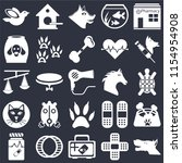set of 25 icons such as dog ... | Shutterstock .eps vector #1154954908