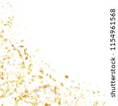 gold sparkling confetti flying... | Shutterstock .eps vector #1154961568