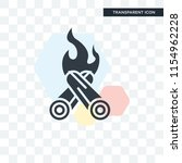 bonfire vector icon isolated on ... | Shutterstock .eps vector #1154962228