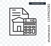 mortgage vector icon isolated... | Shutterstock .eps vector #1154962282