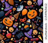 halloween party colorful... | Shutterstock . vector #1154965612