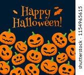 funny pumpkins halloween... | Shutterstock . vector #1154965615