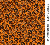 cute black skulls and... | Shutterstock . vector #1154965618