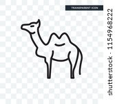 camel vector icon isolated on... | Shutterstock .eps vector #1154968222