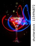 fresh coctail on the black... | Shutterstock . vector #115496872