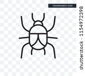 beetle vector icon isolated on... | Shutterstock .eps vector #1154972398