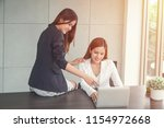 asian businesswomen working...   Shutterstock . vector #1154972668