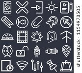 set of 25 icons such as bag ...