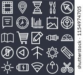 set of 25 icons such as cut ...