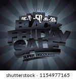 black friday sale banner... | Shutterstock .eps vector #1154977165