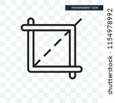crop vector icon isolated on... | Shutterstock .eps vector #1154978992