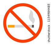 no smoking sign. red forbidden... | Shutterstock .eps vector #1154984485
