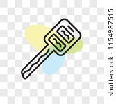 car key vector icon isolated on ...   Shutterstock .eps vector #1154987515