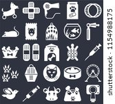 set of 25 icons such as... | Shutterstock .eps vector #1154988175
