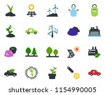 colored vector icon set  ...   Shutterstock .eps vector #1154990005