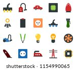 colored vector icon set   hair...   Shutterstock .eps vector #1154990065