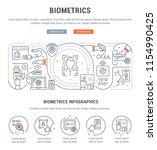 line banner of biometrics....   Shutterstock .eps vector #1154990425