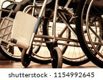 wheelchair for the disabled and ... | Shutterstock . vector #1154992645