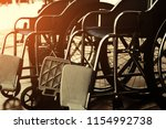 wheelchair for the disabled and ... | Shutterstock . vector #1154992738