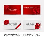gift card template collection... | Shutterstock .eps vector #1154992762