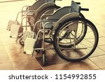 wheelchair for the disabled and ... | Shutterstock . vector #1154992855