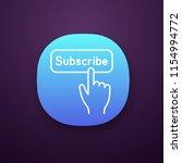 subscribe button click app icon....