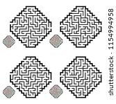 set of labyrinths  mazes...   Shutterstock .eps vector #1154994958