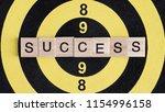 word spell success by wooden...   Shutterstock . vector #1154996158