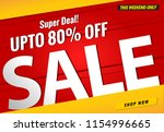 sale banner template red and... | Shutterstock .eps vector #1154996665