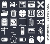 set of 25 icons such as dislike ...
