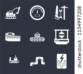 set of 9 simple icons such as... | Shutterstock .eps vector #1154997208