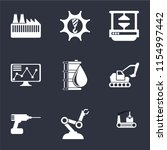 set of 9 simple icons such as... | Shutterstock .eps vector #1154997442